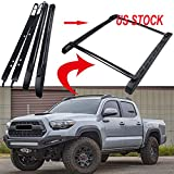 MotorFansClub Black Roof Rail Crossbars Kits for Tacoma 05-17 Double Cab Luggage Rack Cargo Bar Rack US Stock