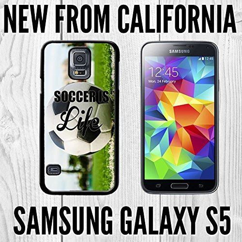 Soccer is Life Sports Unique Custom made Case/Cover/skin FOR Samsung Galaxy S5 - Black - Rubber Case ( Ship From CA) (Skin Soccer Life)