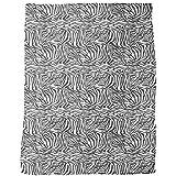 Zebra Black And White Blanket: Large