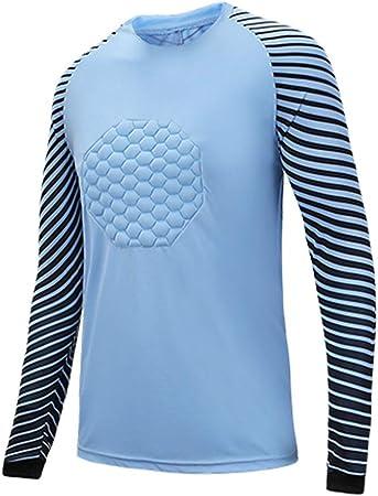 Fútbol Americano Traje Portero Uniforme Futbol Jerseys Camisa Dragón Manga Larga (Color : Blue, Size : XXXL): Amazon.es: Hogar