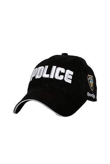 81a70360b63 Sportigo Solid Police Cap - Black at Amazon Men s Clothing store