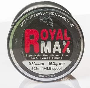 Royal Max fishing line,1/4LB 0.50 MM,5/48-SP.1/4LB50