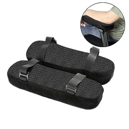 Almohadilla para reposabrazos de silla, 1 par de almohadillas ergonómicas de espuma viscoelástica, alivio