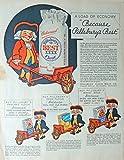 wheel barrow cover - Pillsbury's Best Flour. Original vintage magazine ad. Fantastic, scarce old ad. (wheelbarrow-Pillsbury Man) Print Art 30's Color Illustration. Original 1933 The Farmer's Wife Magazine Art