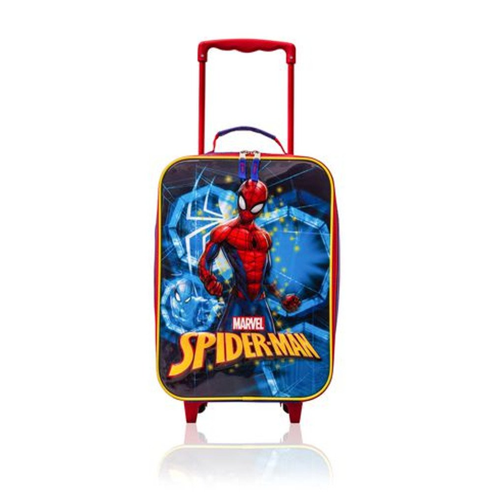 Spider-Man Trolley - Kids Soft Side Luggage Case 16 Inch