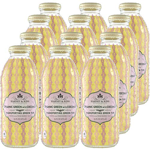 - Harney & Sons Iced Tea, Organic Green with Coconut, 16 oz (Pack of 12)