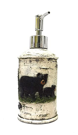 Black Bear On Birch Bathroom Accessories (Lotion Pump)