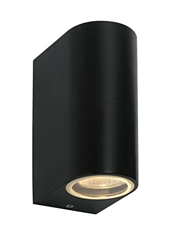 Modern black double outdoor wall light ip44 updown outdoor wall modern black double outdoor wall light ip44 updown outdoor wall light mozeypictures Image collections