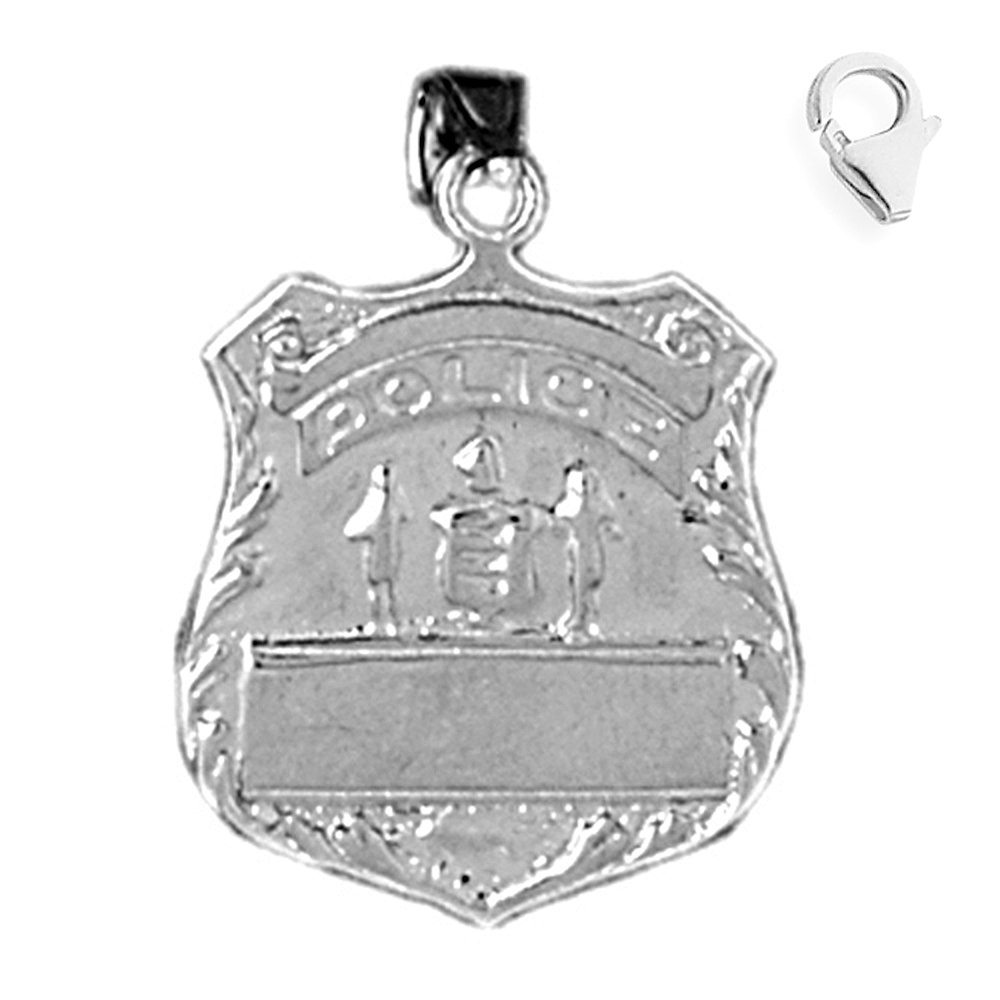 Rembrandt Charms Police Badge Charm with Lobster Clasp