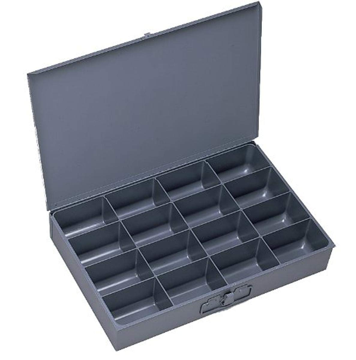 Durham 113-95-IND Gray Cold Rolled Steel Individual Large Scoop Box, 18 Width x 3 Height x 12 Depth, 16 Compartment