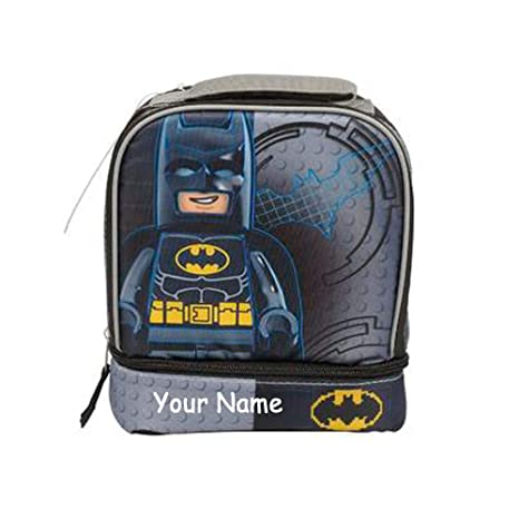 ecc8e25b7608 Personalized LEGO Batman Back to School Insulated Lunchbox Lunch Bag with  Zippered Compartments