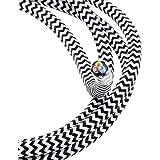 Plástico Cable Blanco y Negro gezackt Longitud a Elegir 3/5/10metros de cable de cable Cable de tela con plástico recubierto Cable lámpara de cable de 3