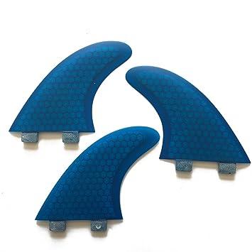 UPSURF Tabla de Surf Tri FCS G5 Aletas Fibra de Vidrio Tabla de Surf Aletas Estilo