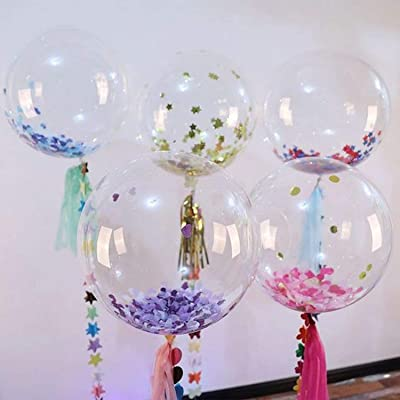 Indoor and Outdoor Decoration Christmas DIY Events Zancybuzz 30 Pcs Clear Pre Stretched Bobo Balloons 20 Inches Transparent Bubble Balloon for Light Up Led Balloons Wedding House Decor Anniversary Family Reunion and Birthdays