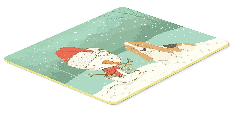 Caroline's Treasures CK2051CMT バセットハウンド 雪だるま クリスマス キッチンまたはバスマット 20x30 高さ20x幅30インチ マルチカラー   B07J1VJ179
