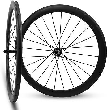 Yuanan Ruedas de Carbono para Bicicleta de Carretera, 50 mm, 700C, 25 mm, Aero Rim con BITEX, Tubular, Tubeless: Amazon.es: Deportes y aire libre