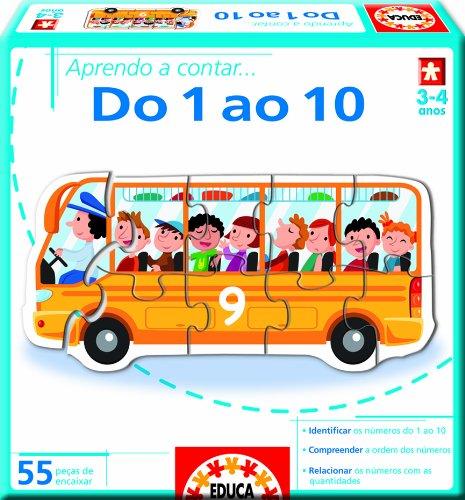 Juegos educativos Educa - Aprendo a… contar do 1 ao 10, en portugués (