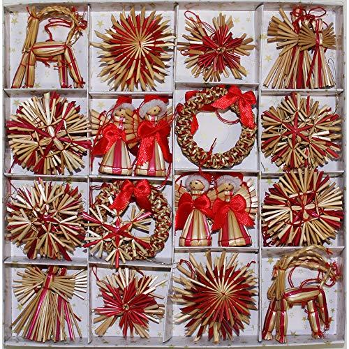 ScandinavianShoppe Straw Ornament Assortment - 56 pc