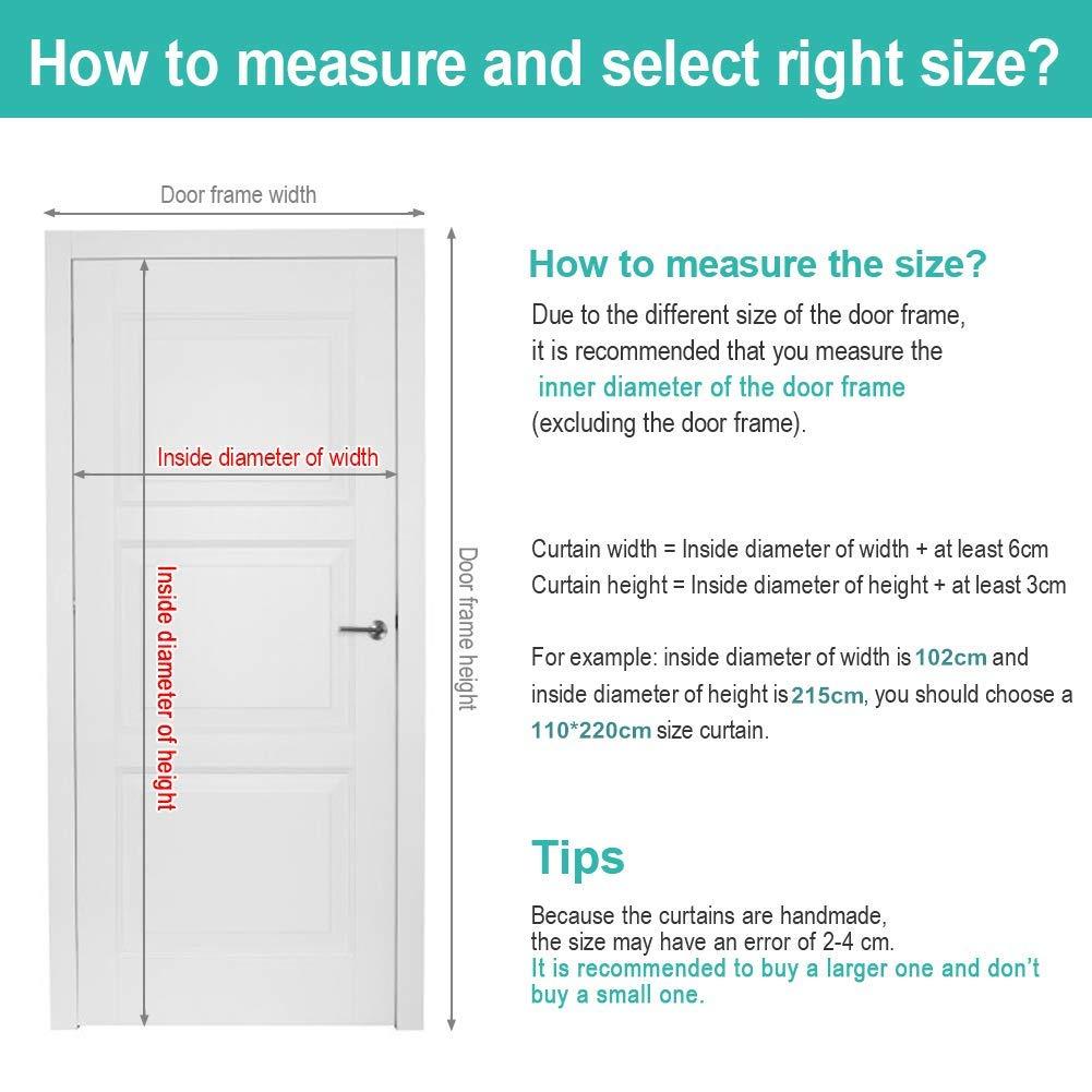 Chiude Automaticamente Adatto per Porte Fino a MENGH Porta zanzariera Magnetica Zanzariera Magnetica 35x100inch Easy to Install Bianca 90x255cm
