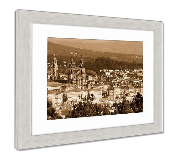 Amazon.com: Ashley Framed Prints Cathedral of Santiago De ...