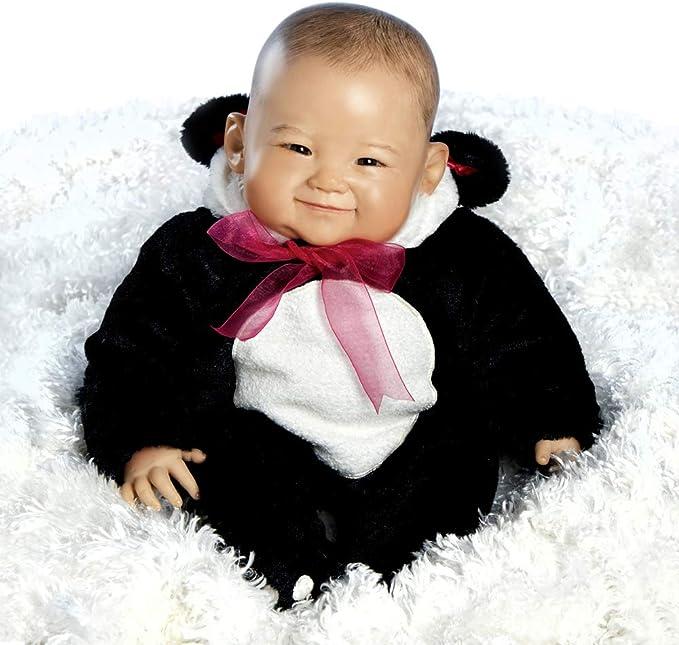 Paradise Galleries Reborn Asian Baby Girl Doll (Su-Lin) in Panda Suit, 20