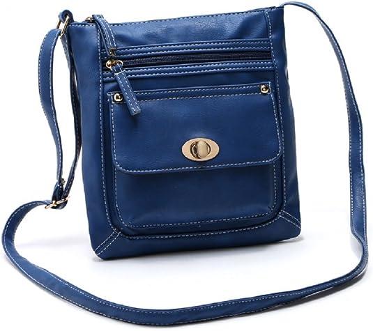 Details about  /Women/'s Lovely office Shoulder Cross Bag  Twist Lock Satchel