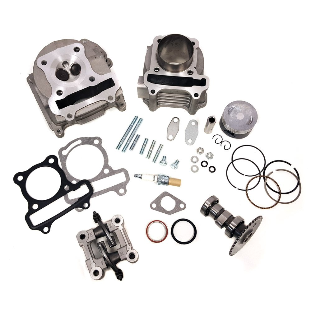Complete Upgrade/Rebuild GY6 Cylinder Kit 100cc - 50mm piston, 70mm EGR Valves for 4-stroke 139QMB 139QMA