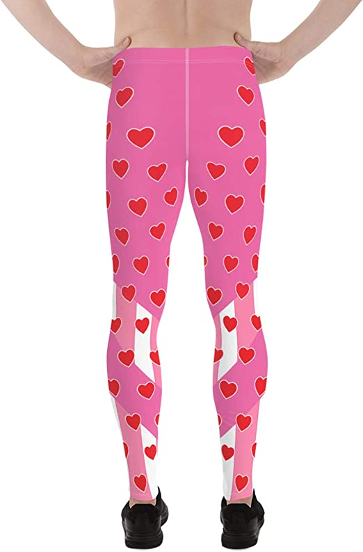 Child S//M Girls Valentine White and Red Heart Tights