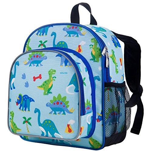 pack, Includes Insulated, Food-Safe Front Pocket and Side Mesh Water Bottle Pocket, Perfect for Preschool, Daycare, and Day Trips, Olive Kids Design – Dinosaur Land (Kids Dinosaur Backpack)