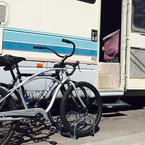 EasyGo Floor Stationary Double Bike Wheel Rack, Indoor – Outdoor Bike Stand
