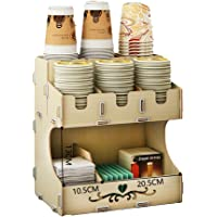 Cup Holders Disposable Cup Dispenser Paper Cup Dispenser Disposable Cup Holder Automatic Cup Taker Drinking Machine Coffee Cola Paper Cup Holder Milk Tea Shop Bar Counter Multi-layer Storage Cup Divid