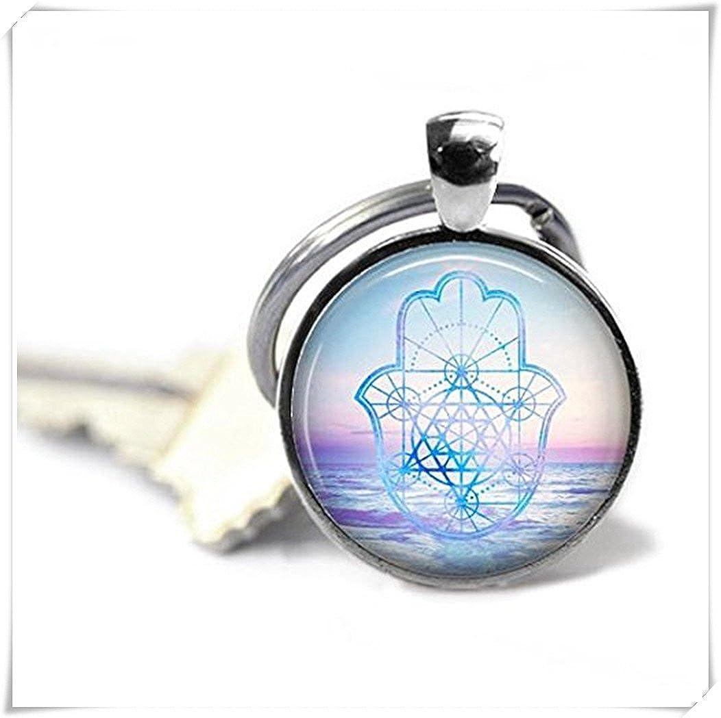 Llavero, diseño de mano de Fátima, geometría sagrada, Zen ...