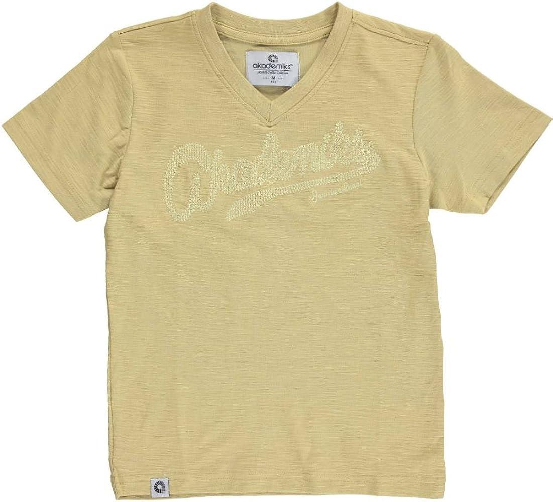 Akademiks - Camiseta de manga corta - para niño Verde caqui: Amazon.es: Ropa y accesorios