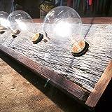 3 bulb rustic barn wood bathroom vanity light bar