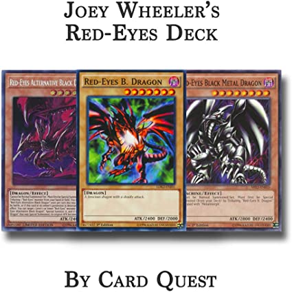Amazon Com Yu Gi Oh Joey Wheeler Complete Red Eyes Deck