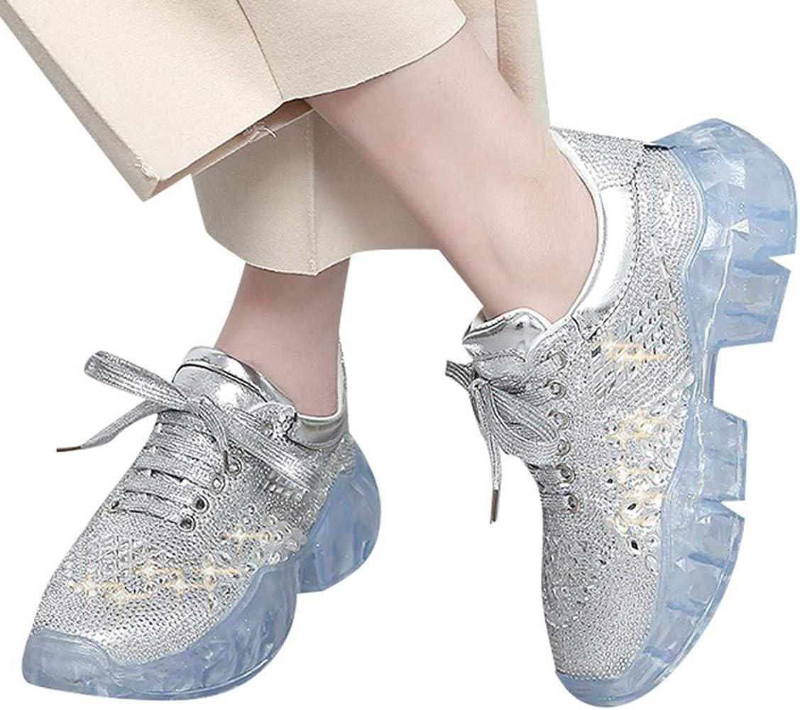 ZARLLE Moda Salvaje Zapatos Planos,Cojín de Aire Completo Diamante ...