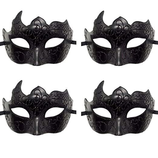 Rehoty Mens Masquerade Mask Vintage Half Face Party Mask Mardi Gras Christmas Halloween Mask