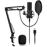 Tonor USB Microphone Kit Q9 Condenser Computer Cardioid Mic for Podcast, Game, YouTube Video, Stream, Recording Music, Voice Over
