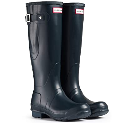 Hunter Original Adjustable Damen Fest Gummistiefel Wellington Boots - Blau  - 36