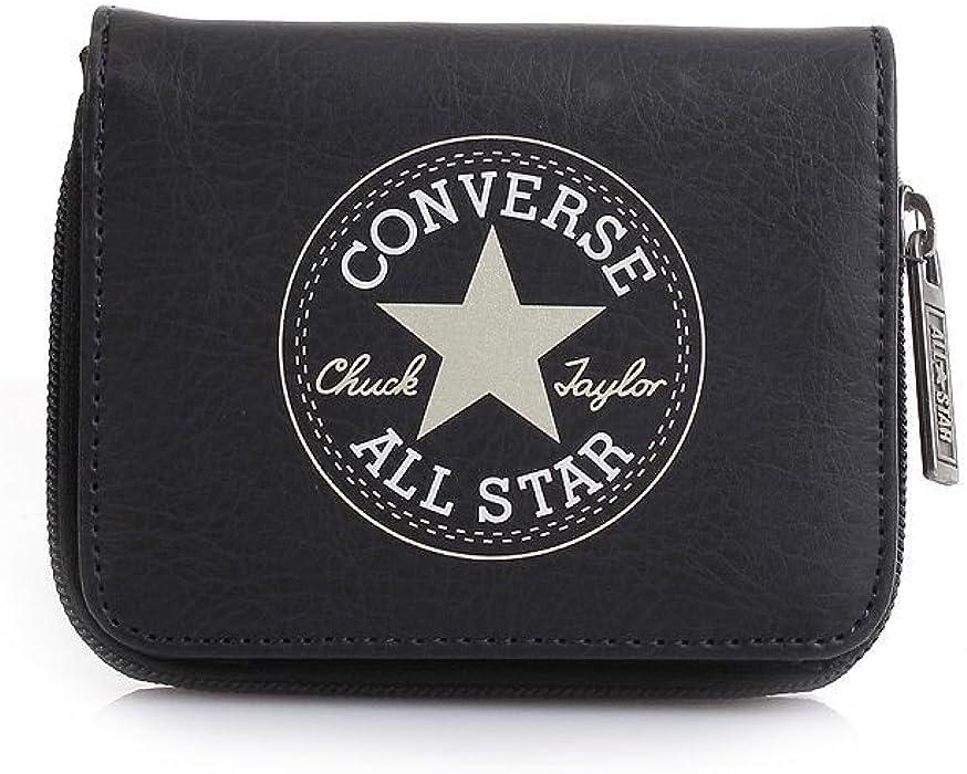 192ddf44bf4f Converse wallet purse 410547 Zip Wallet Retro Black Deep Well ...