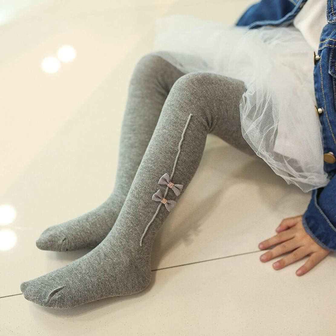 Gaga city Calzamaglia Bambino Invernali Caldo Cotone Collant Termico Bambina Ragazza Elastico Leggings Calze Maglia Bow 0-4anni