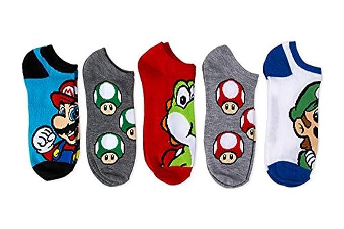 Amazon.com: NUEVO tema Nintendo Super Mario Bros. Niños 5 Pk ...