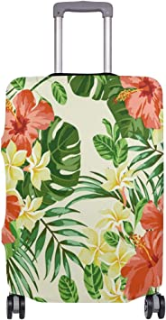 FOLPPLY Tropical Palm Pattern Luggage Cover Baggage Suitcase Travel Protector Fit for 18-32 Inch