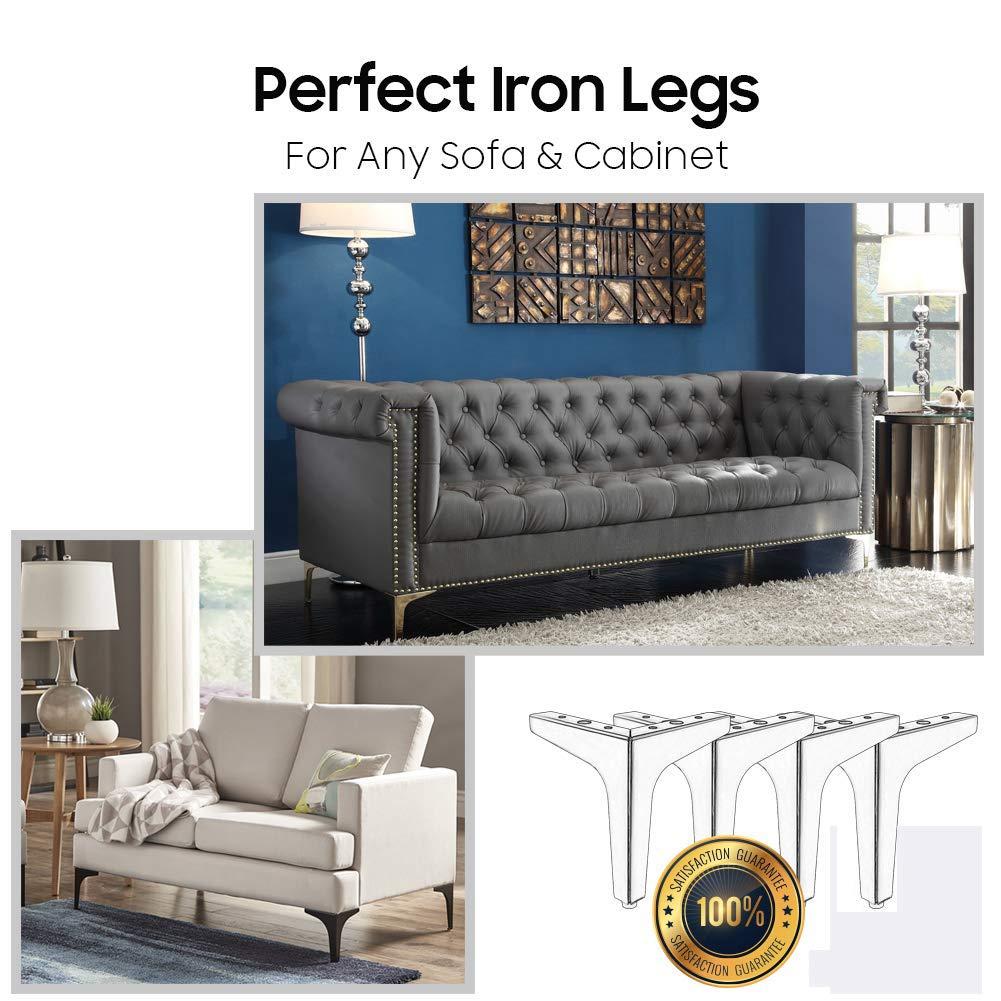 Amazon.com: Patas para muebles de 5.3 pulgadas de altura ...