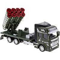 Baosity 1:48 Scale Die-cast Alloy Military Truck Model Pull Back Vehicle Toy for Kids & Children - Rocket Launcher