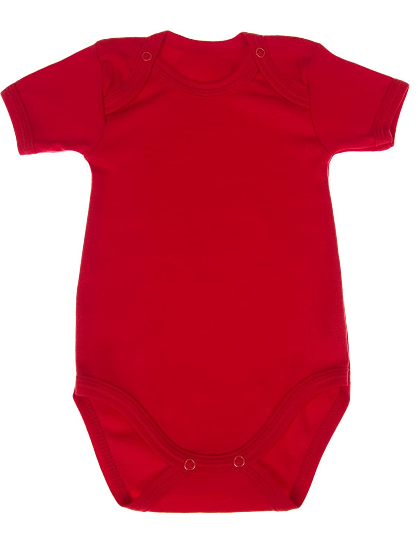 The Little Legwear Company Short Sleeve Bodysuit Vest Baby Girls Boys Cotton Jersey
