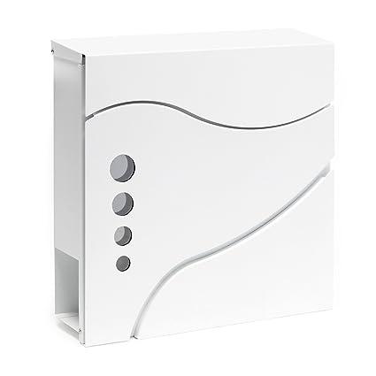 Buzón correo diseño moderno V31 blanco de pared periódicos ...