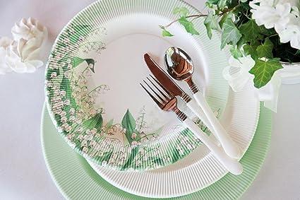 120 platos de papel, platos papel para fiesta, platos desechables Impresión MUGHETTO, Plato