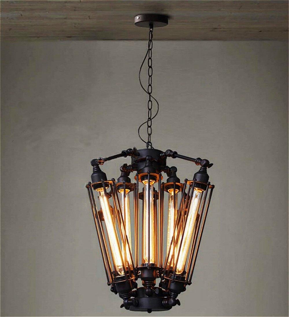 SUSUO Lighting Black Industrial LOFT Steampunk Steel Ceiling Light Industrial Chandeliers with 8 Lights
