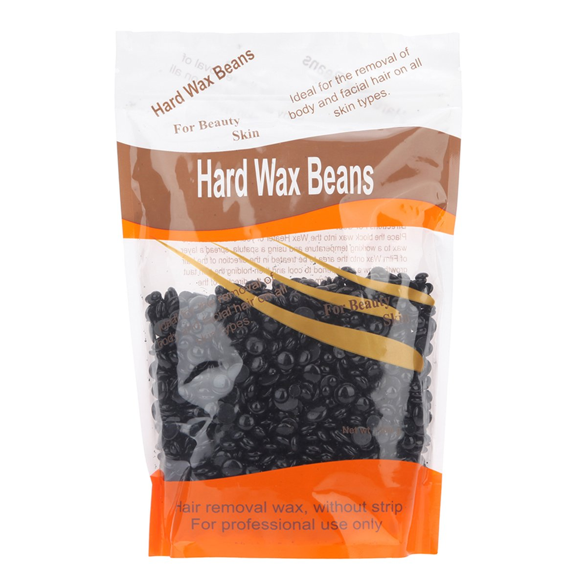 Vitang Hard Wax Beans for Face, Underarms, Brazilian, Bikini Hair Remover 300g/ 10.6 oz (Black)